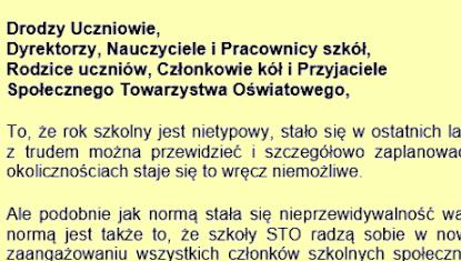 List Prezesa STO